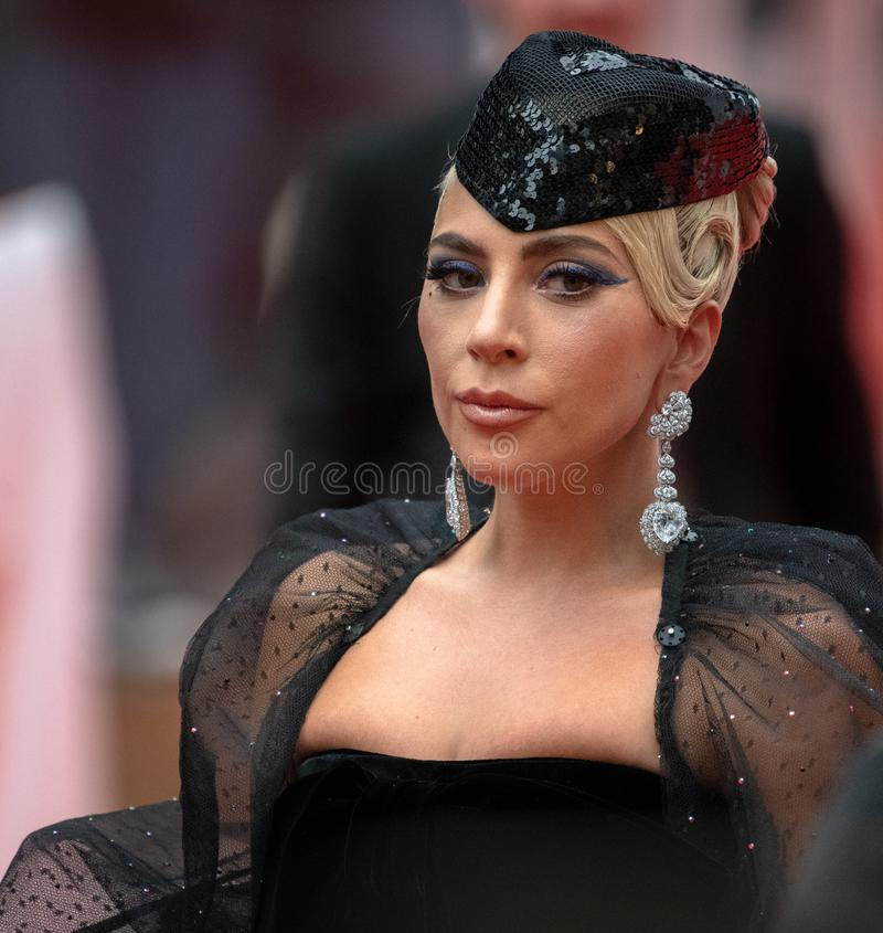 TIFF 2018, Toronto International Film Festival. Lady Gaga. The Toronto International Film Festival is one of the most important in the world royalty free stock image