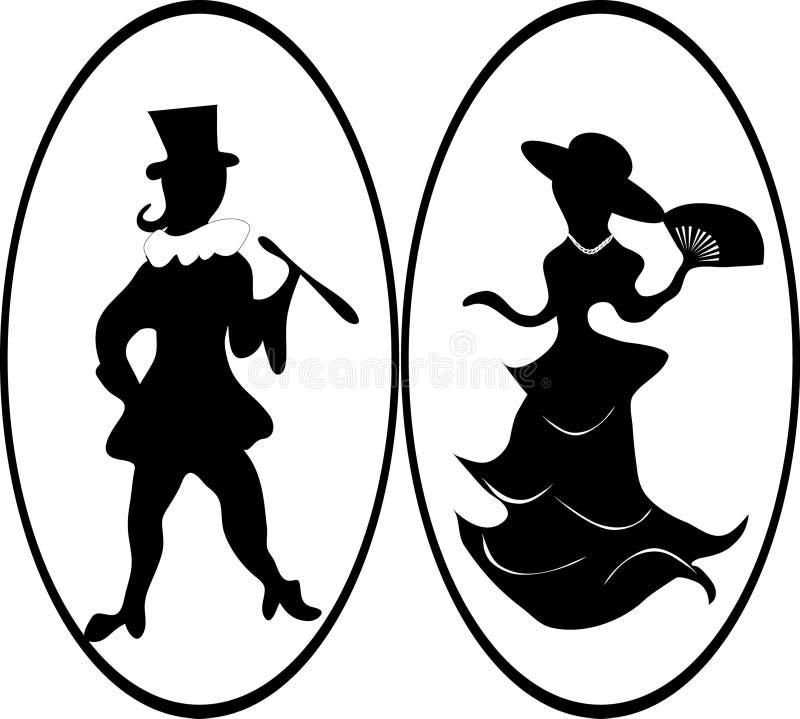 Lady And Gentleman Stock Vector Illustration Of Elegant