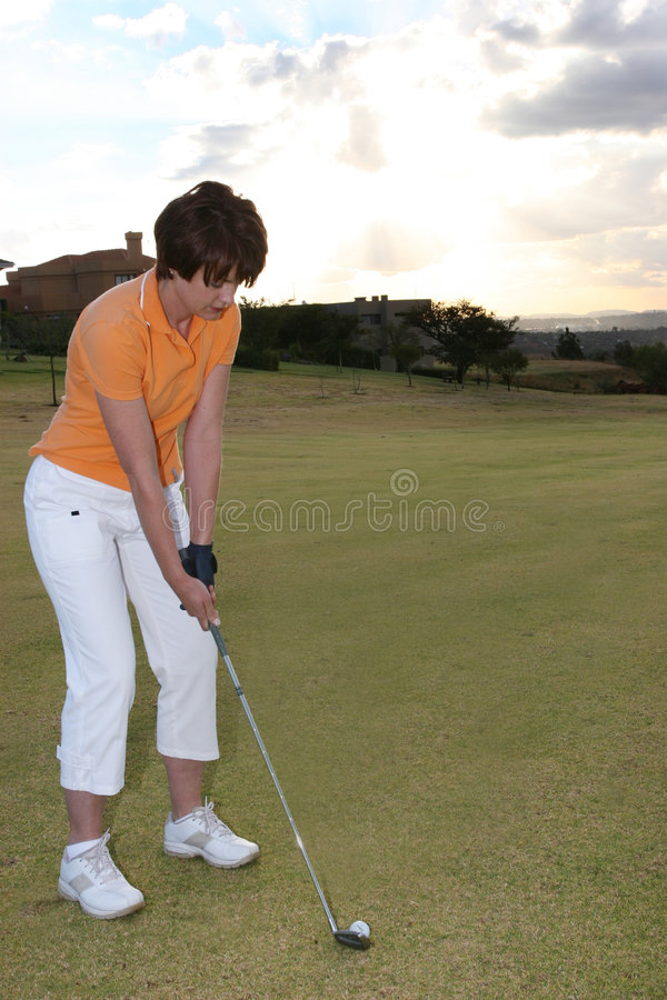 Lady Golfer royalty free stock image