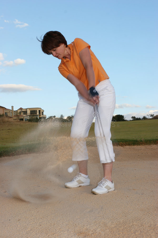 Download Lady Golfer stock image. Image of bunker, afternoon, golf - 165835