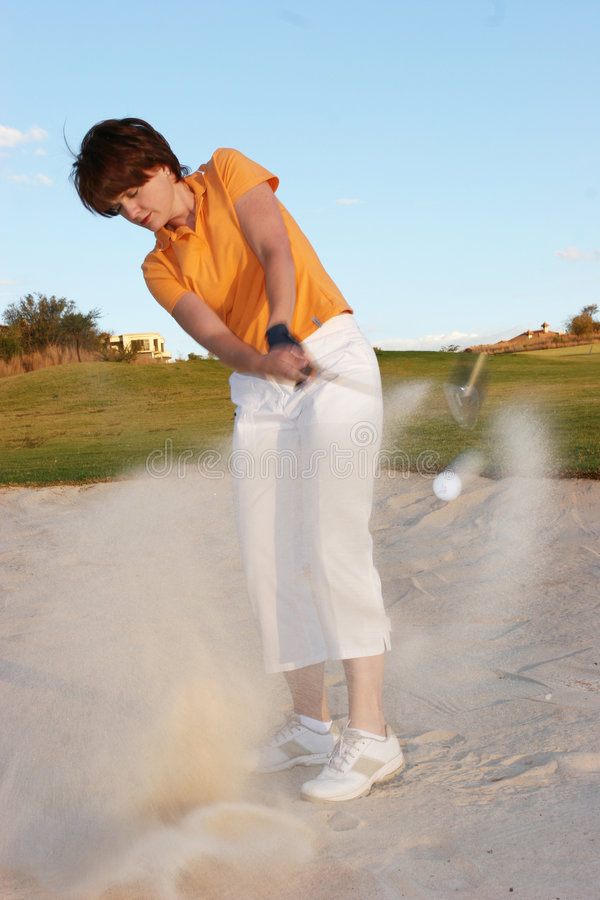 Lady Golfer royalty free stock photos