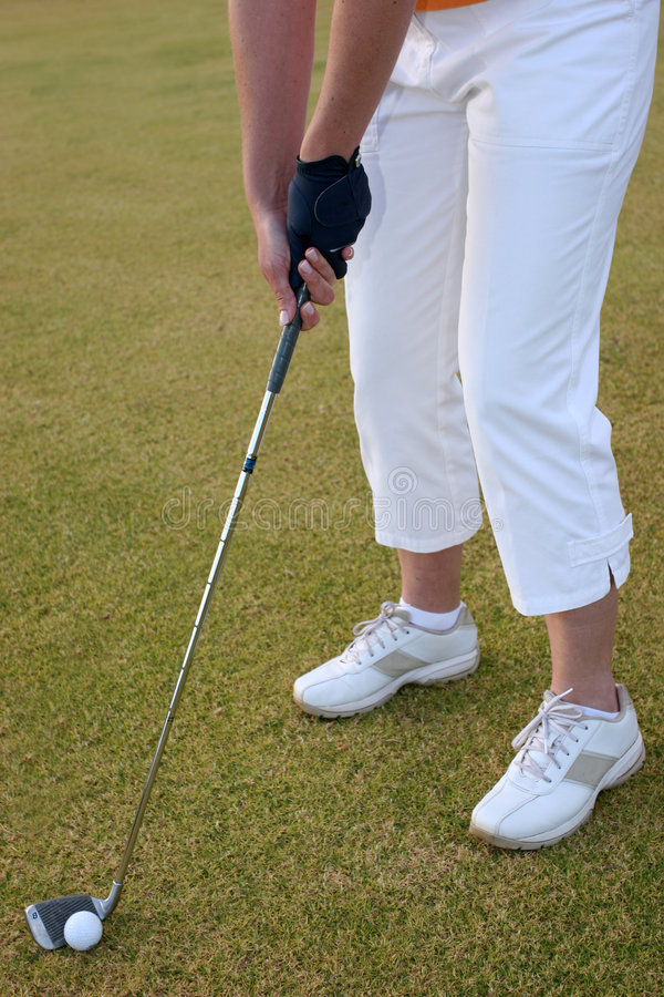 Lady Golfer royalty free stock images