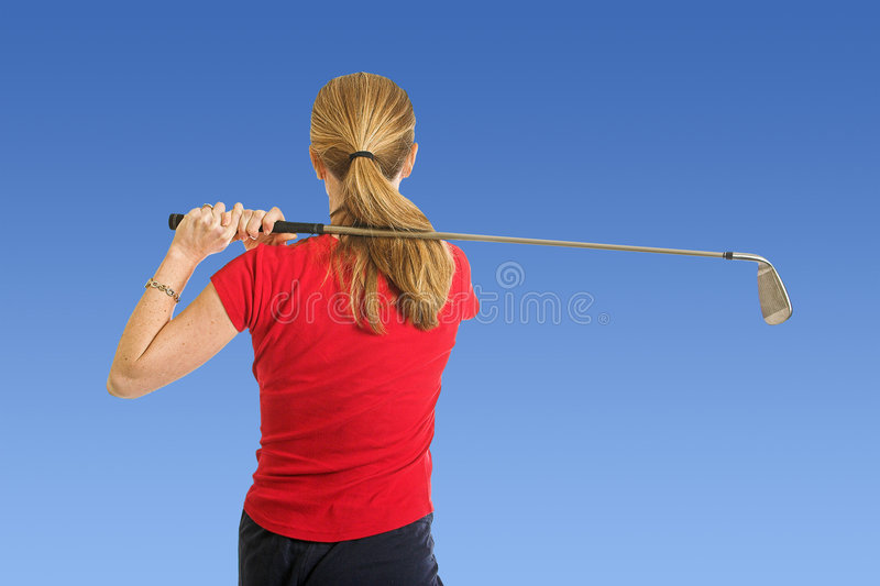 Lady Golfer stock photo