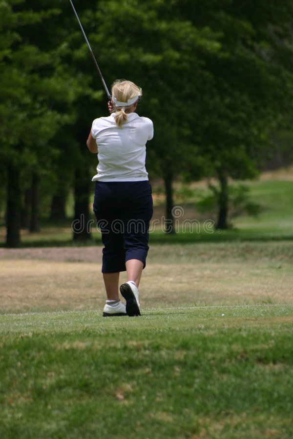 Download Lady golfer in white stock photo. Image of steady, drive - 317416
