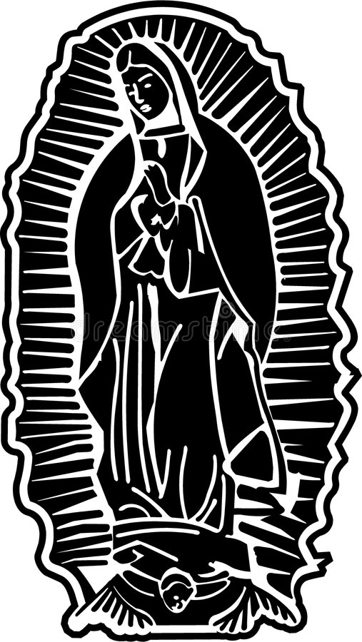 Lady of Guadalupe Vector Art royalty free illustration