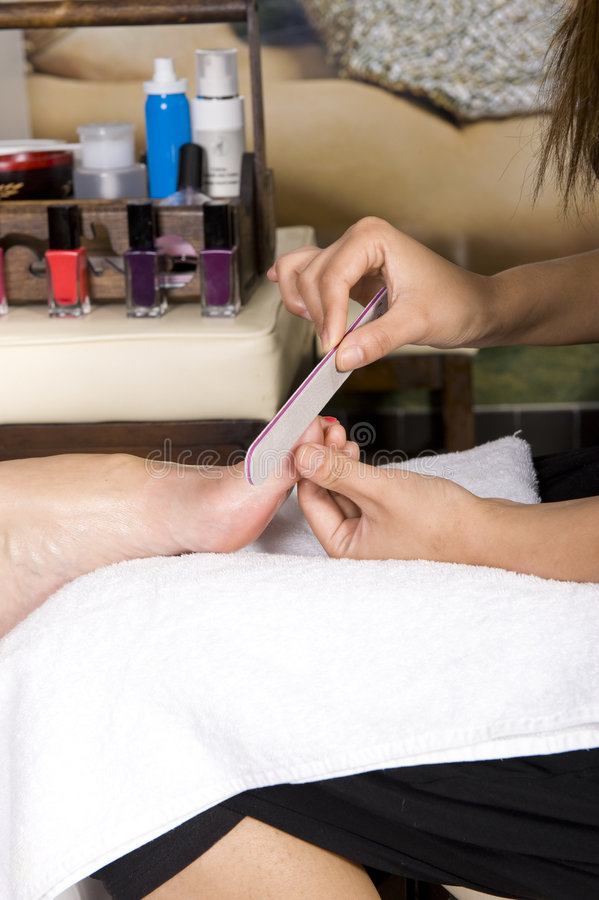 Download Lady Having Pedicure Royalty Free Stock Photography - Image: 6992847