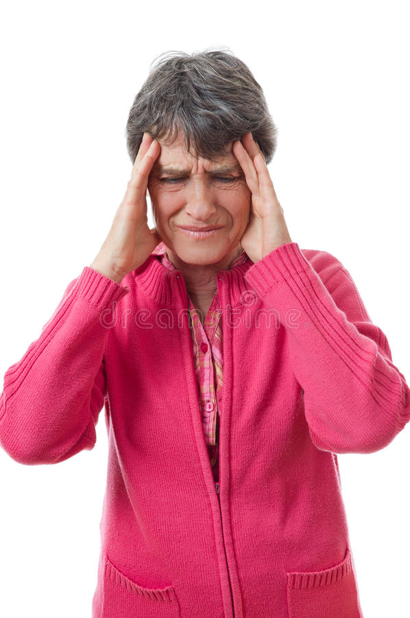 Download Lady with headache stock photo. Image of aching, portrait - 25597840