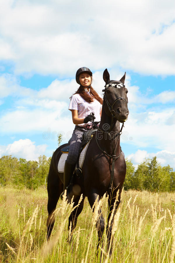 Download Lady on horse stock photo. Image of equine, female, people - 15968110