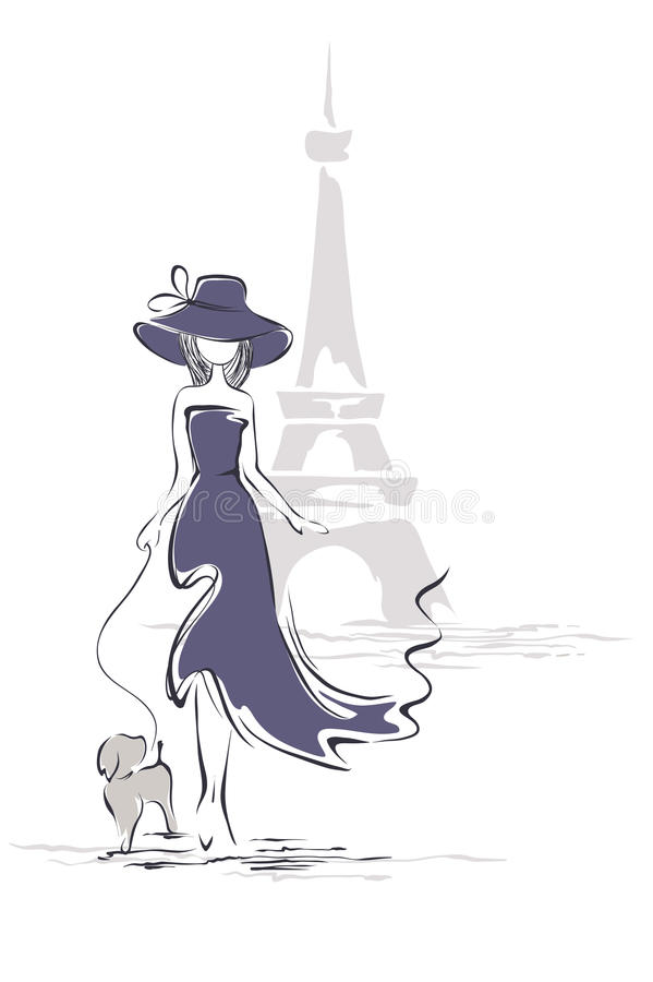 Free Lady In A Hat In Paris Stock Photo - 37552430