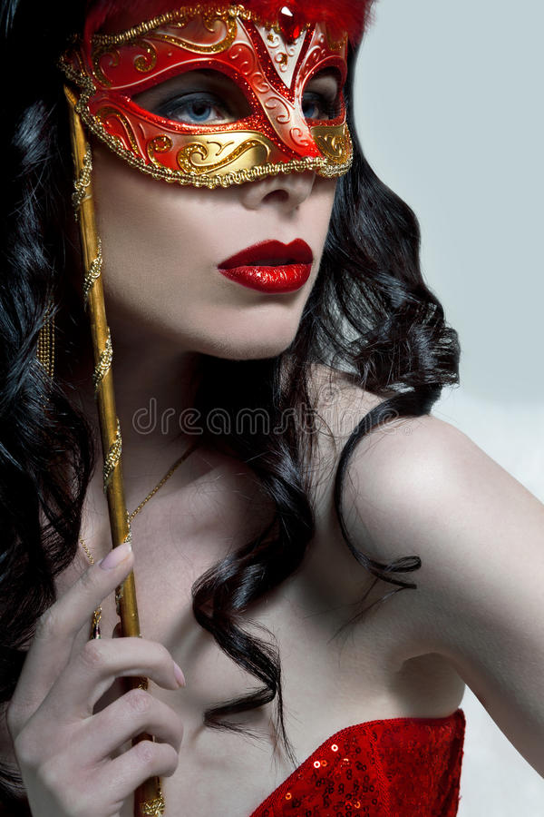 Free Lady In Mask Royalty Free Stock Photography - 17357367