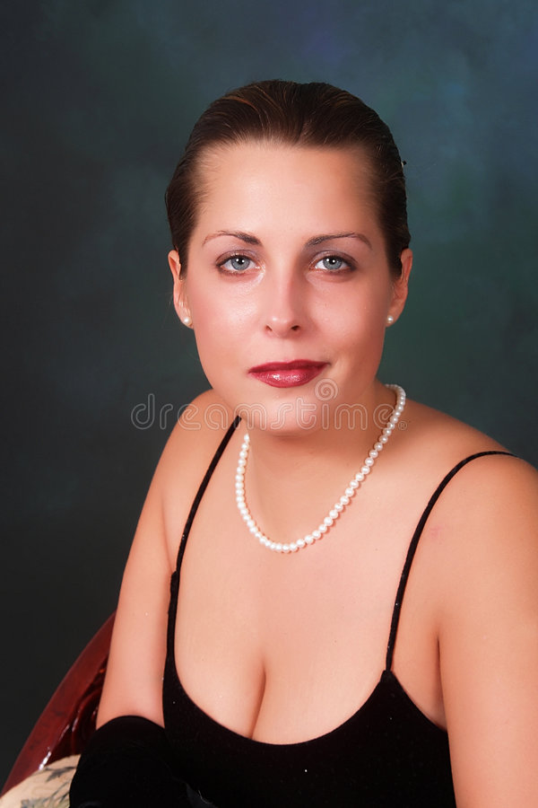 Free Lady In Pearls Stock Image - 4190791