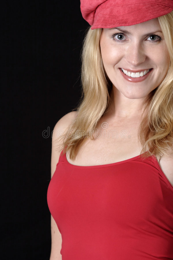 Free Lady In Red Royalty Free Stock Image - 343486
