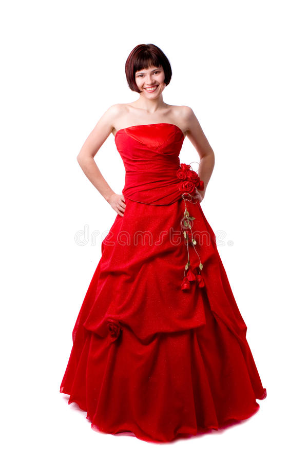 Free Lady In Red Dress Stock Photography - 14650362