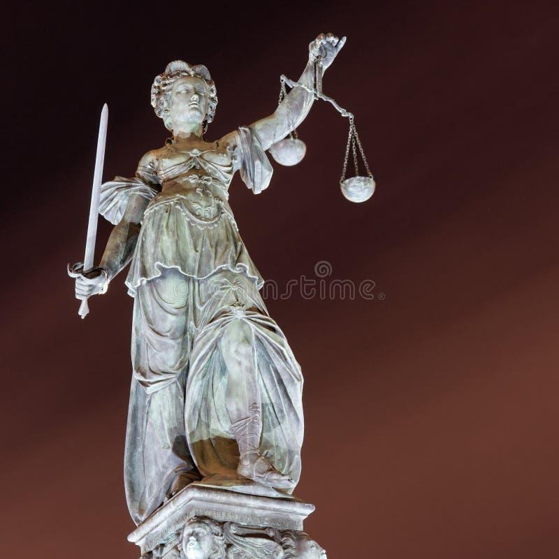 Lady Justice, Frankfurt royalty free stock photo
