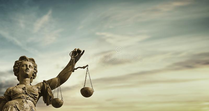 Lady Justice moral judicial system royalty free stock photo