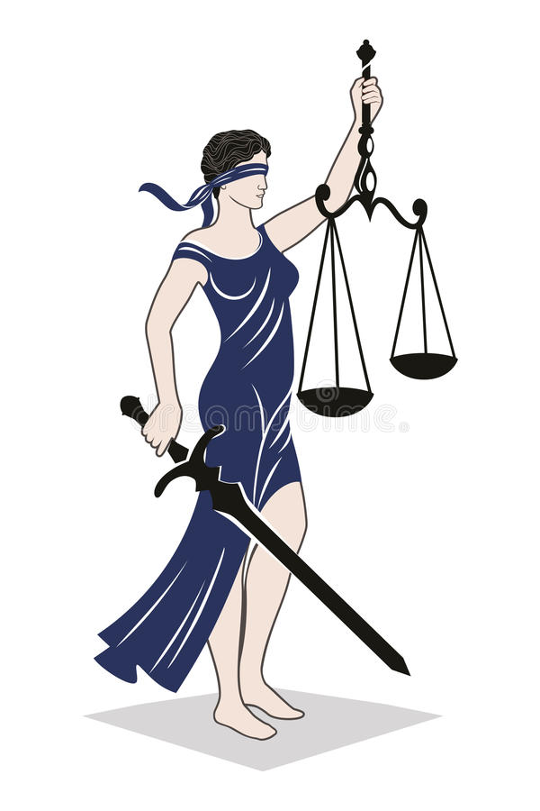 Lady justice law vector illustration