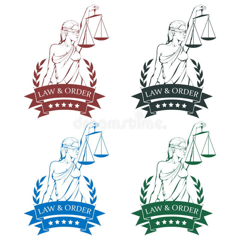Lady justice logo.Law and order vector illustration