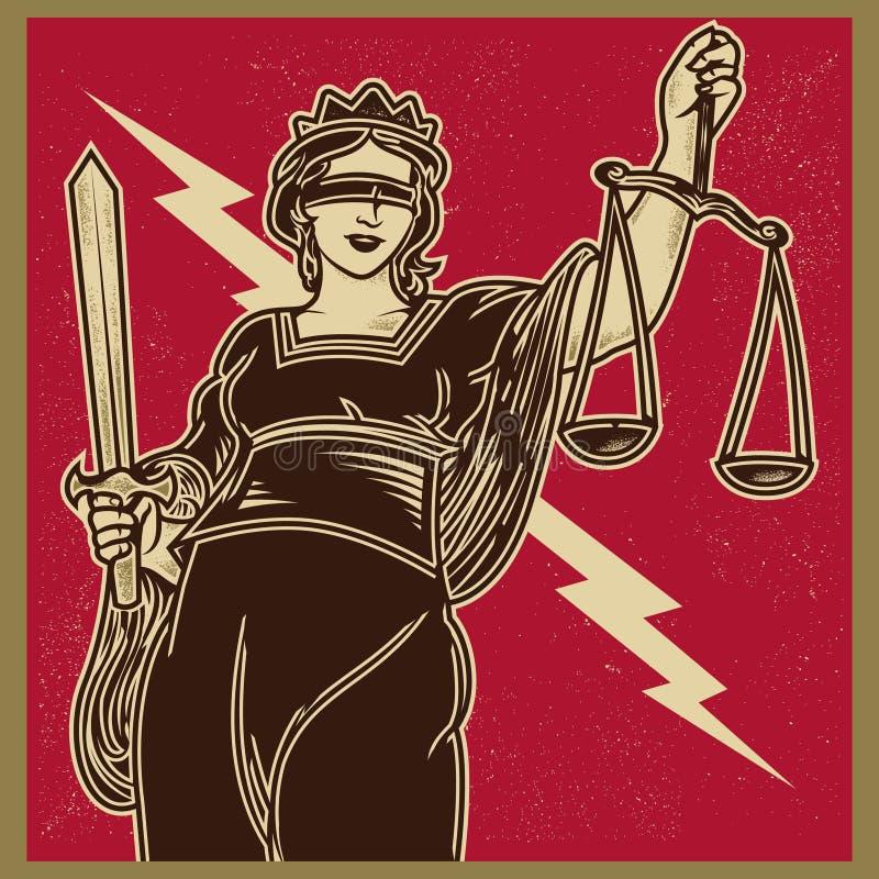 Download Lady Justice Propaganda stock vector. Illustration of artwork - 89739969