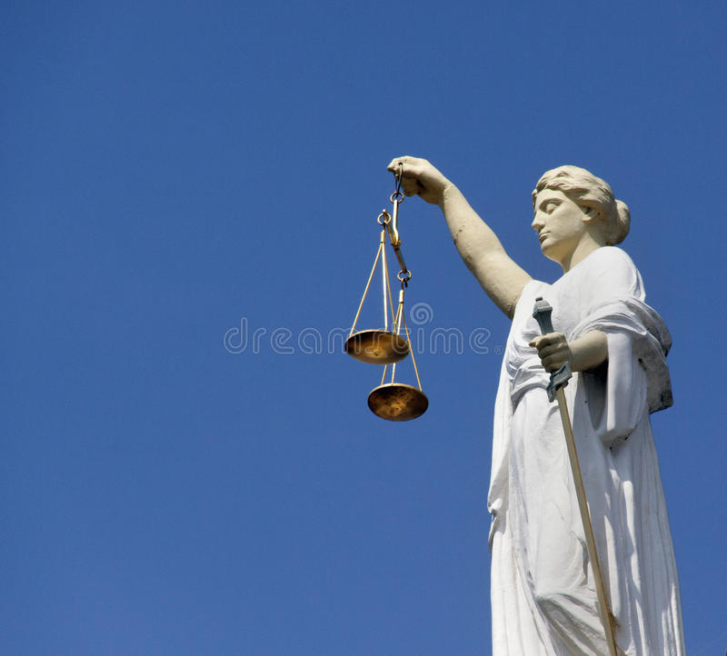 Lady Justice Rotterdam royalty free stock photos