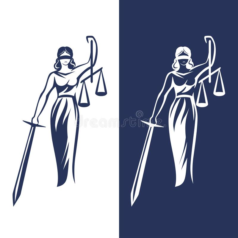 Free Lady Justice Statue Stock Image - 111261721
