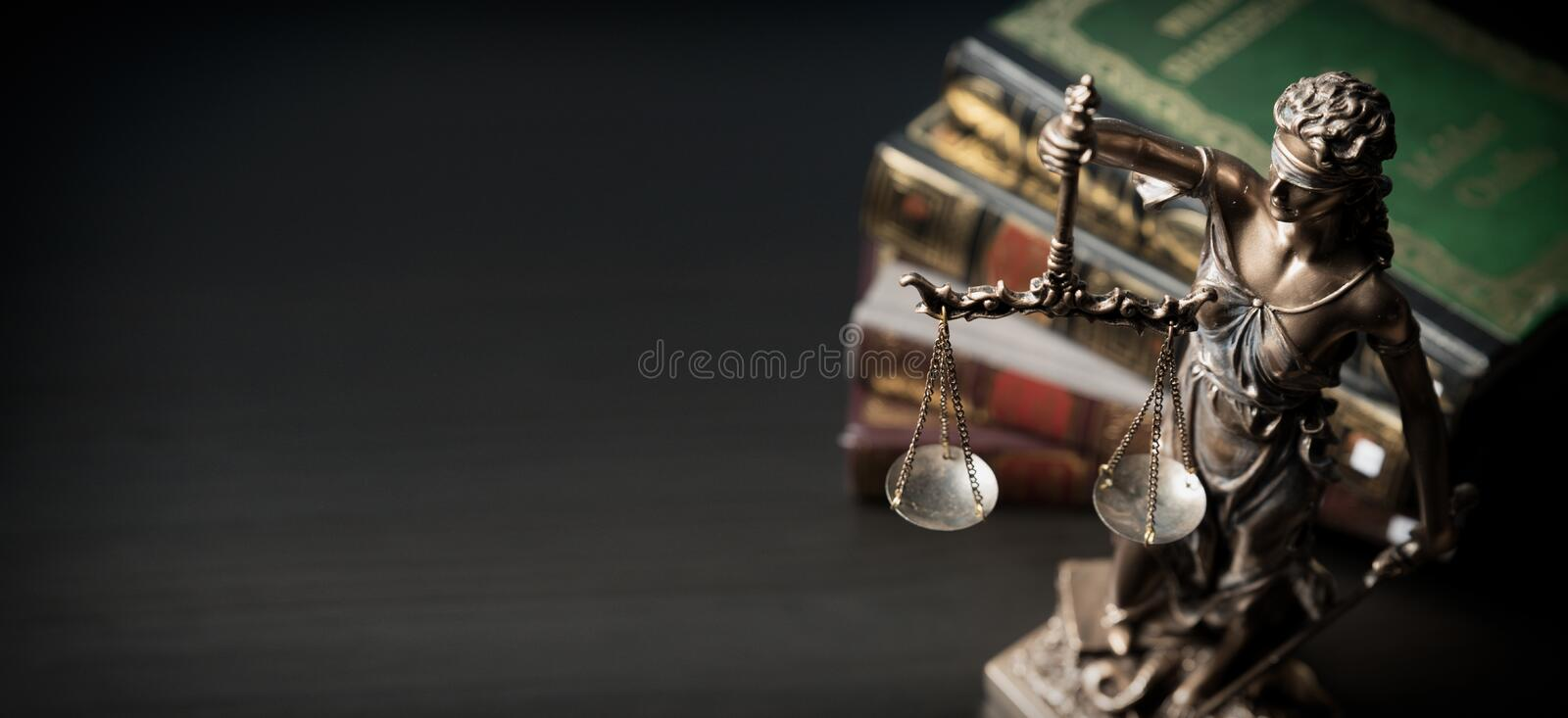 Lady justice. Statue of Justice in library royalty free stock images