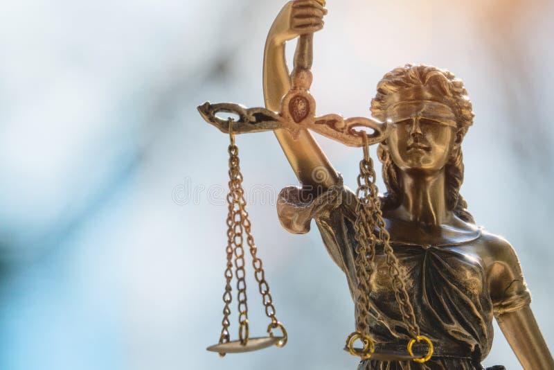 Lady Justice statue Justitia,Justicia stock image