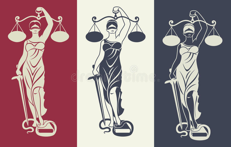 Lady justice Themis 3 royalty free illustration