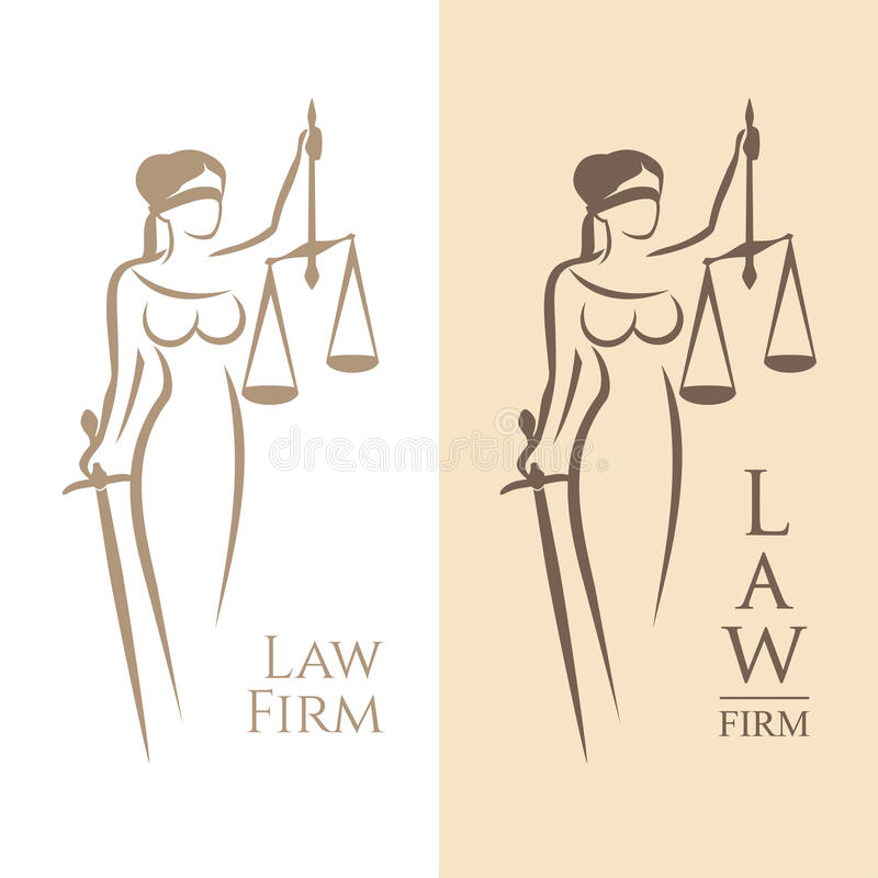 Lady justice stock illustration