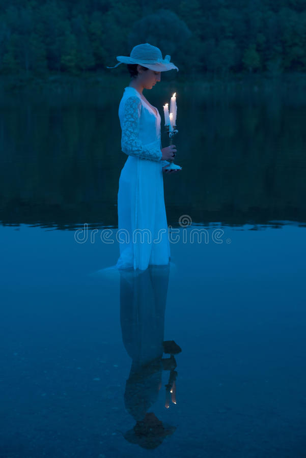 Lady of the lake stock photos