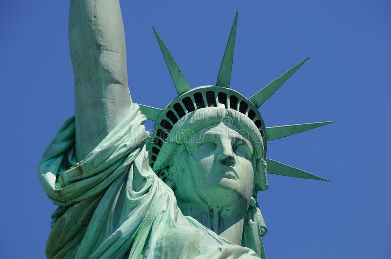Lady Liberty Watching over America royalty free stock images