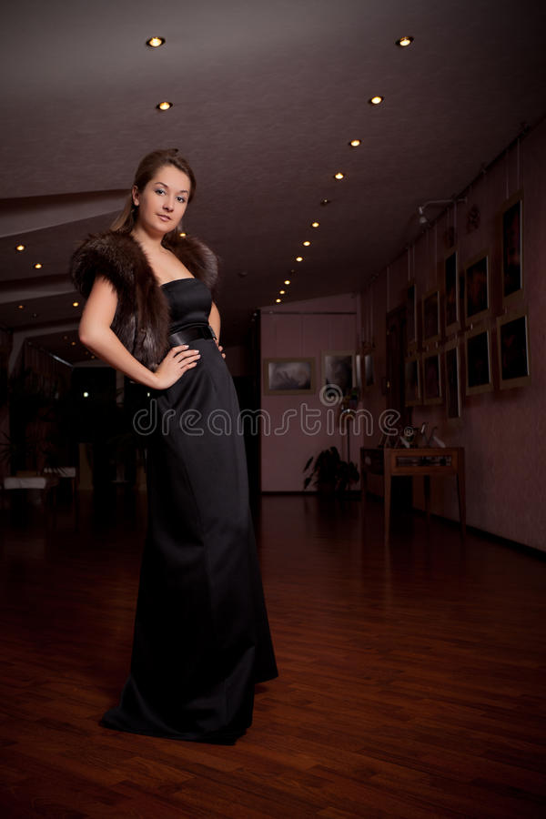 Download Lady in luxury hall stock photo. Image of girl, caucasian - 17185506