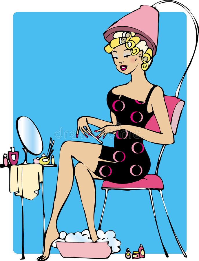Download Lady making beauty stock vector. Image of illustration - 895340