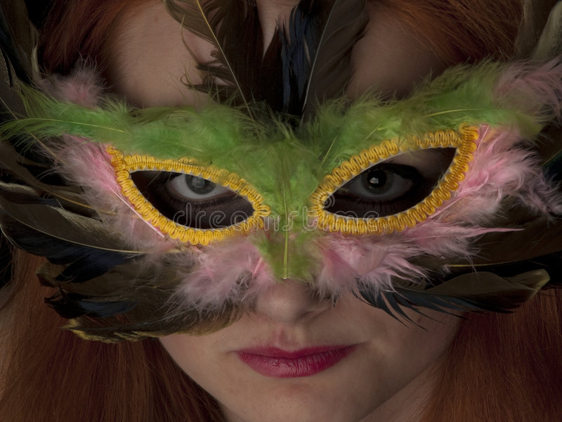 Download Lady in Mask stock photo. Image of hair, cute, horizontal - 9112632