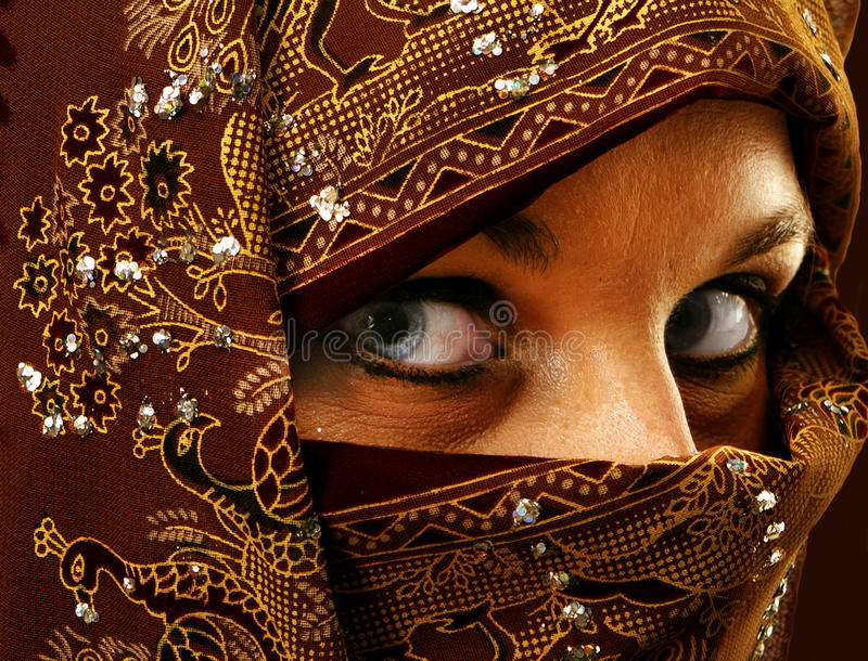 Download Lady in ornate burqua stock image. Image of mascara, burka - 21963549