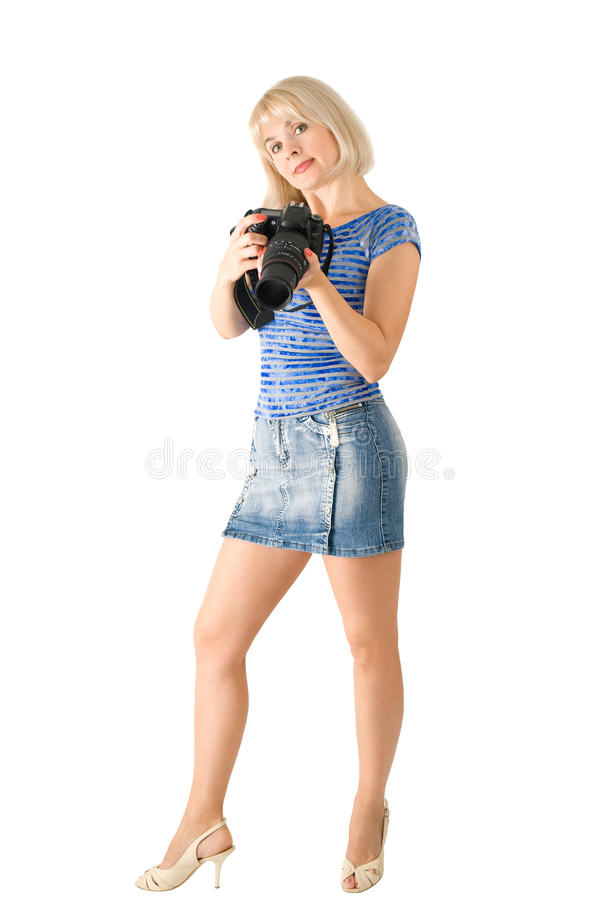Download The lady - photographer stock photo. Image of blonde - 16622858