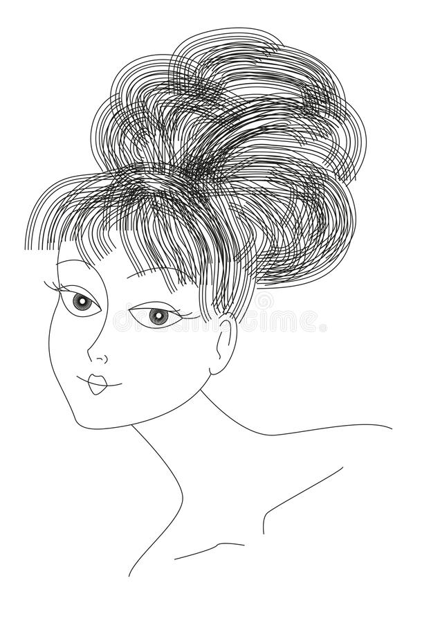 Lady portrait stock illustration