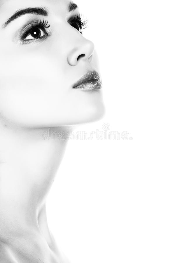 Lady portrait. B&W photography. royalty free stock photography