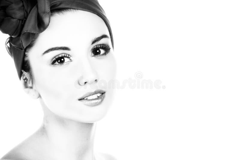 Lady portrait. B&W photography. stock photo