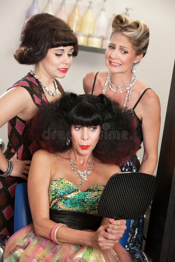 Download Lady Proud of Bad Hairdo stock photo. Image of curls - 28019382