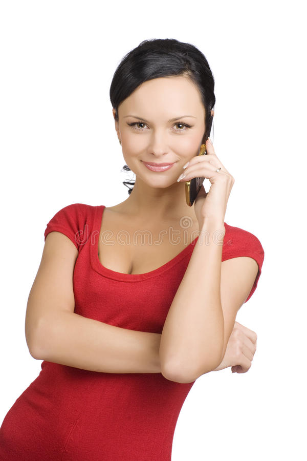 Download Lady in red stock photo. Image of manager, communication - 13484040