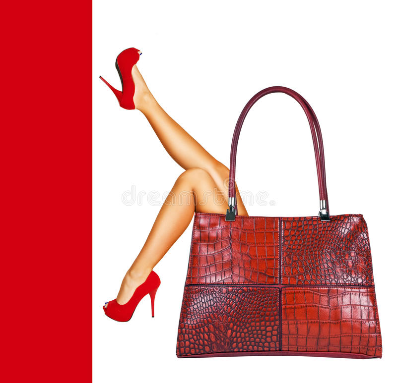 Download Lady in red. stock photo. Image of girl, heeled, fancy - 21748302
