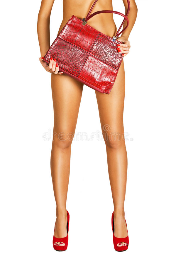 Download Lady in red. stock photo. Image of trendy, fashionable - 21748310