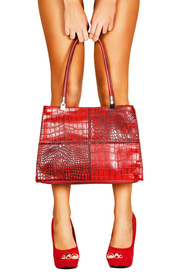 Download Lady in red. stock photo. Image of heeled, hung, accessory - 21748352