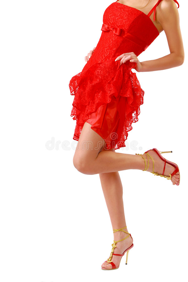 Lady in red royalty free stock photo