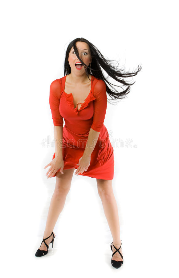 lady in red dress royalty free stock photo image 10986625. Black Bedroom Furniture Sets. Home Design Ideas