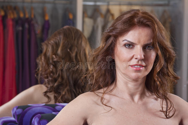 Download Lady with reflection stock image. Image of caucasian - 13447663