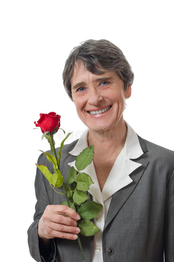Download Lady with rose stock image. Image of studio, woman, businesswoman - 25581135