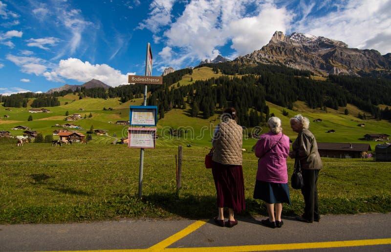 3 lady& x27; s in Adelboden royalty-vrije stock foto