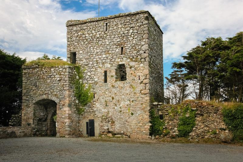 Our Lady`s Island Castle. county Wexford. Ireland. Our Lady`s Island Castle. gatehouse entrance. county Wexford. Ireland stock images