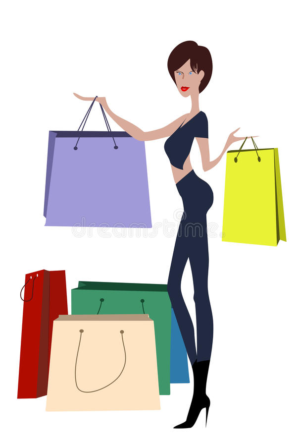Download Lady Shopper Royalty Free Stock Images - Image: 12549889